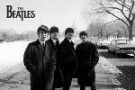 Affiche noir et blanc Beatles (2)