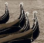 Photo noir & blanc de Bret STAEHLING Four condolas