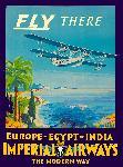Affiche ancienne Imperial Airways