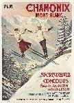 Poster ancien de Francisco TAMAGNO Chamonix