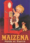 Affiche vintage de Marcellin AUZOLLE Maïzena