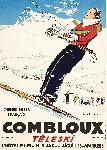 Affiche vintage de Paul ORDNER Téléski Combloux