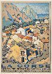 Affiche vintage de Malcom STRAUSS Corse