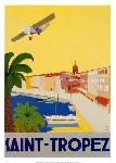 Affiche vintage de Bruno CHOMEL Saint-Tropez