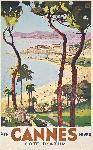 Affiche ancienne de PERI Cannes été / hiver