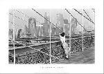 Affiche noir & blanc de Édouard BOUBAT Pont de Brooklyn, 1982