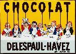 Affiche vintage Chocolat Delespaul Havez