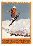 Affiche vintage de Charles HALLO Chamonix - Mont-Blanc