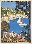Affiche vintage L'été sur la Côte d'Azur