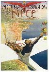 Affiche vintage Charles Leonce BROSSE Meeting d'aviation Nice