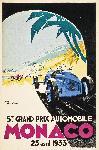Affiche ancienne de GEO HAM Monaco 1933
