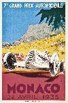 Affiche vintage de Géo HAM Monaco 1935