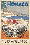 Affiche ancienne de Géo HAM Monaco 1936