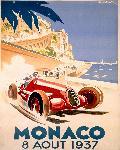 Affiche ancienne de Géo HAM Monaco 1937