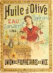 Affiche ancienne Huile d'Olives Propriétaires Nice