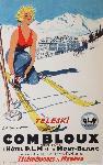 Affiche vintage de ORDNER Teleski Combloux