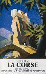 Affiche vintage de JACQUELIN Visitez la Corse