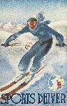 Affiche vintage de AROU Sports d'hiver