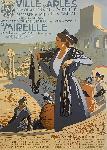 Affiche ancienne de Leo LELEE Ville d'Arles