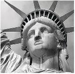 Poster Liberty Tête de la statue de la liberté