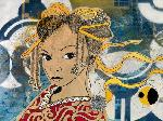 Peinture de Pascal Suprapto Schmid Lady Kyoto