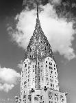 Poster noir et blanc de Henri Silberman Top of Chrysler Building