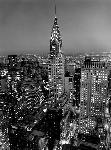 Affiche noir et blanc de Henri Silberman Chrysler Building