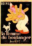 Affiche du film de Marcel Pagnol La Femme du boulanger