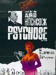 Affiche du film de Alfred Hitchcock Psychose