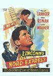 Affiche du film de Hitchcock L'Inconnu du Nord-Express