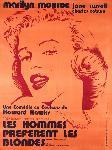 Affiche du film Les Hommes préfèrent les blondes (Monroe)