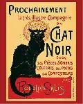 Affiche vintage compagnie Le Chat Noir