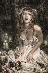 Affiche reproduction peinture Victoria Frances (Vampire Girl)