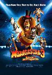 Poster du film animé Madagascar 3 Bons Baisers D'Europe (blue)