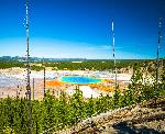 Affiche vue du parc Yellowstone au Etat Unis