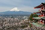 Affiche vue sur le mont Fuji