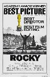Affiche noir & blanc du film Rocky