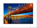 Affiche art print du pont de San Francisco
