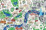 Affiche d'un plan de Londres