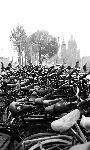 Photo noir et blanc vélo amsterdam