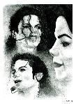 Affiche montage noir et blanc Michael Jackson