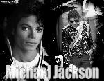 Poster photo montage noir et blanc Michael Jackson