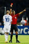 Photo Zinedine Zidane carton rouge