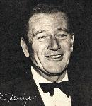 Photo noir et blanc de John Wayne