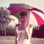 Poster d'Audrey Hepburn (parapluie)