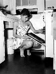 Affiche d'Audrey Hepburn (cooking)