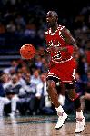 Affiche photo Michael Jordan dribble