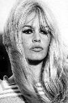 Poster photo portrait noir et blanc Brigitte Bardot