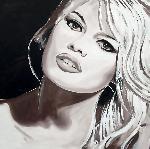 Reproduction portrait peinture Brigitte Bardot