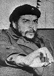 Photo noir et blanc de Ernesto Che Guevara